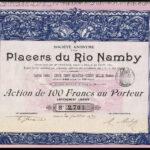 Placers du Rio Namby, 100 Fr.