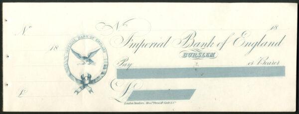 Imperial Bank of Eng Burslem