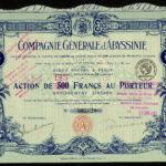 Cie Generale d Abyssinie