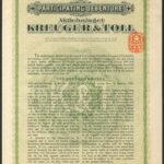 Kreuger and Toll 14.3.29 100kr
