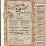 Argentine Railway brn coupons