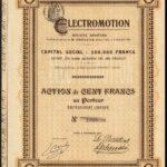 Electric-Motor-Car-Electromotion-SA-100-franc-share-Paris-1901-381913542030