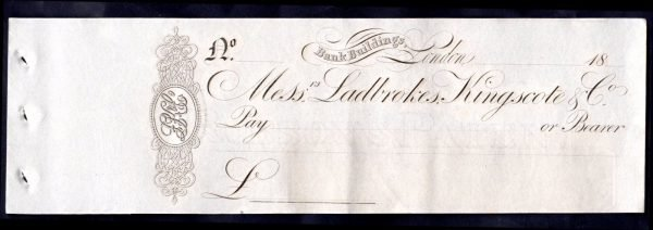 Messrs-Ladbrokes-Kingscote-Co-1830s-Unused-with-counterfoil-172619339623