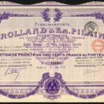 Motor-Cars-Etablissements-Rolland-Em-Pillain-500-franc-share-Tours-1923-381450115193