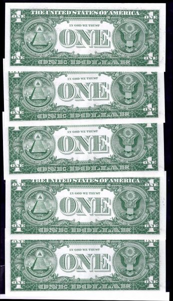 Silver-Certs-10-x-1-consecutive-A46318225-18234-1957-Almost-Uncirculated-382217683864-2