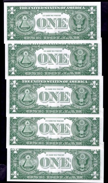 Silver-Certs-10-x-1-consecutive-A46318225-18234-1957-Almost-Uncirculated-382217683864-4