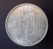 Belgium-Baudouin-100-francs-1954-AUNC-382144659265-2