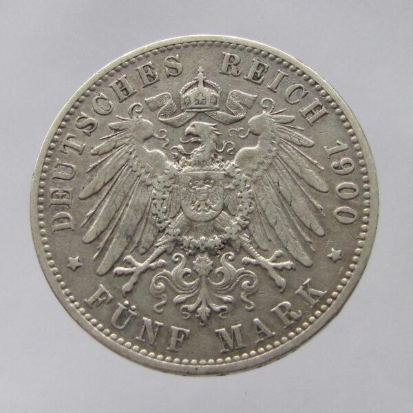 Germany-Hamburg-silver-5-marks-1900-abtVF-382023444035-2