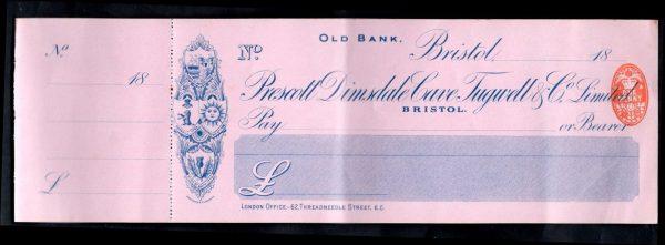 Prescott-Dimsdale-Cave-Tugwell-Co-Old-Bank-Bristol-Unused-cfoil-1892-382037460547