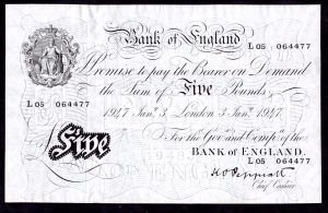 Bank of England 'white' notes