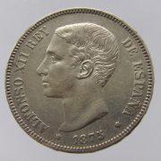 Spain-Alfonso-XII-silver-5-pesetas-1875-gVF-172671575669